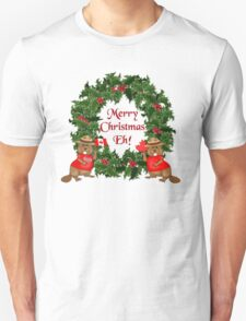 Canadian Mountie Beaver Christmas Eh! T-Shirt