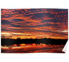 Lake Sunset - West Chester Ohio Poster