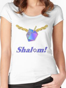Shalom Gold Coins Hanukkah Women's Fitted Scoop T-Shirt