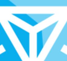 Ingress logo Blue Small Sticker