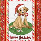 Christmas Santa Puppy by SpiceTree