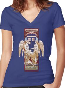 Angel Nouveau Women's Fitted V-Neck T-Shirt