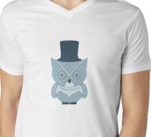Little Vintage Tophat Owl Mens V-Neck T-Shirt