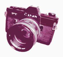 Pink Canon 35mm SLR Design by strayfoto