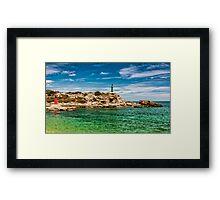 Golden Rock Lighthouse Framed Print