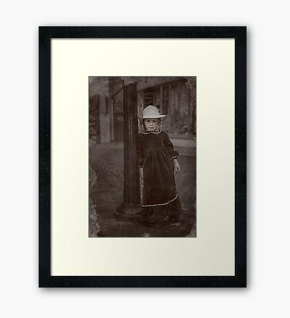 Child Of The Street Framed Print