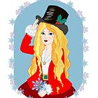 Christmas Top Hat by redqueenself