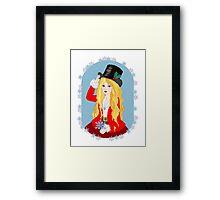 Christmas Top Hat Framed Print