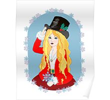 Christmas Top Hat Poster