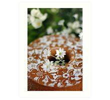 Dentelle sur gâteau Art Print
