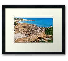 Amphitheatre by the Sea Framed Print