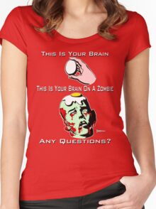Your Brain on a Zombie Women's Fitted Scoop T-Shirt