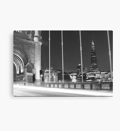 Tower Bridge Monochrome Canvas Print