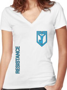 Ingress Resistance - with text Women's Fitted V-Neck T-Shirt