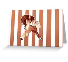 Hot Cocoa Christmas pony version 2 Greeting Card