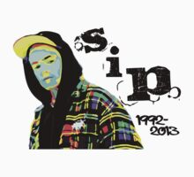S.I.P. Tom Warnick Sticker | 80s Colors by FreshThreadShop