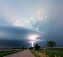 Sculptured storm near Broken Bow, Nebraska by Dave Ellem