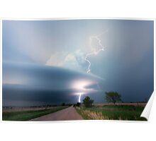Sculptured storm near Broken Bow, Nebraska Poster