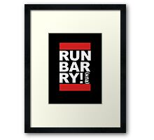 Run Barry, Run! (black) Framed Print