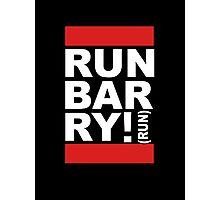 Run Barry, Run! (black) Photographic Print