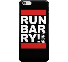 Run Barry, Run! (black) iPhone Case/Skin