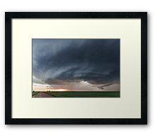 Mothership storm structure near Ness City, Kansas Framed Print