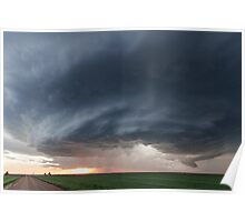 Mothership storm structure near Ness City, Kansas Poster