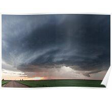 Mothership storm structure near Ness City, Kansas Poster