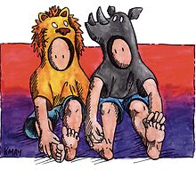 KMAY Hoodkid Lion & Rhino Friends by Katherine May