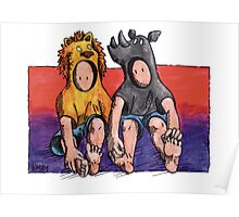 KMAY Hoodkid Lion & Rhino Friends Poster