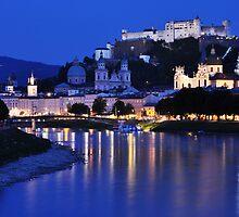 Cityscape - Salzburg by Jane Ruttkayova