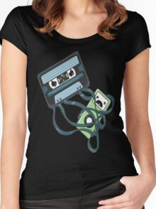 Cassettes Revenge shirt Women's Fitted Scoop T-Shirt