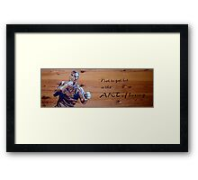 """""""Not to get hit is the ART of boxing"""" Framed Print"""