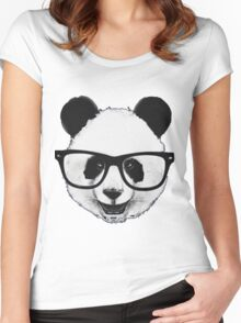 Hipster Panda Women's Fitted Scoop T-Shirt