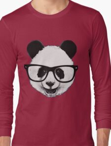 Hipster Panda Long Sleeve T-Shirt