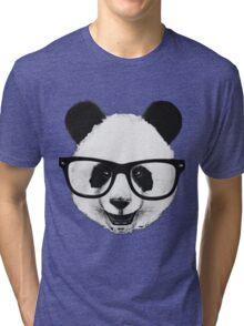 Hipster Panda Tri-blend T-Shirt