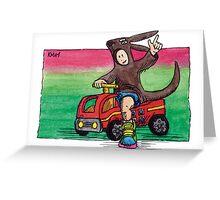 KMAY Hoodkid Kangaroo Fireman Greeting Card