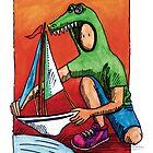 KMAY Hoodkid Crocodile Sailor by Katherine May
