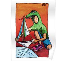 KMAY Hoodkid Crocodile Sailor Poster