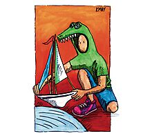 KMAY Hoodkid Crocodile Sailor Photographic Print