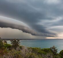 Storm front rolls over Evans Head, NSW by Dave Ellem