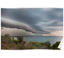 Storm front rolls over Evans Head, NSW Poster