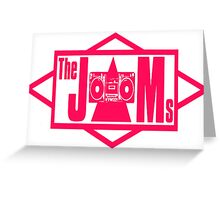 The JAMS Logo (KLF) (Pink) Greeting Card