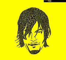 Daryl Dixon from Walking Dead (Yellow) by seanings