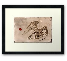 Draconis Birth Framed Print