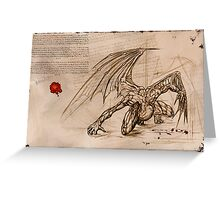 Draconis Birth Greeting Card