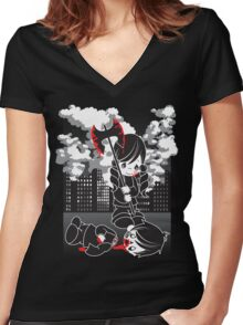 Precious Slayer Girl Women's Fitted V-Neck T-Shirt