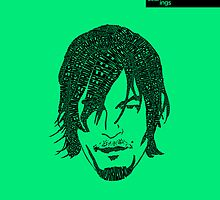 Daryl Dixon from Walking Dead (Green) by seanings
