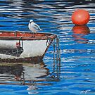 Seagull on guard by Freda Surgenor