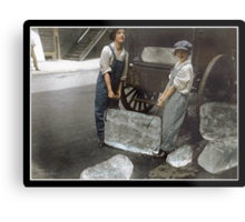 Girls Delivering Ice, 1918 Metal Print